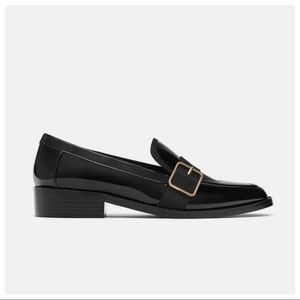 NWT . Zara Moccasins with metal details. Size 6.